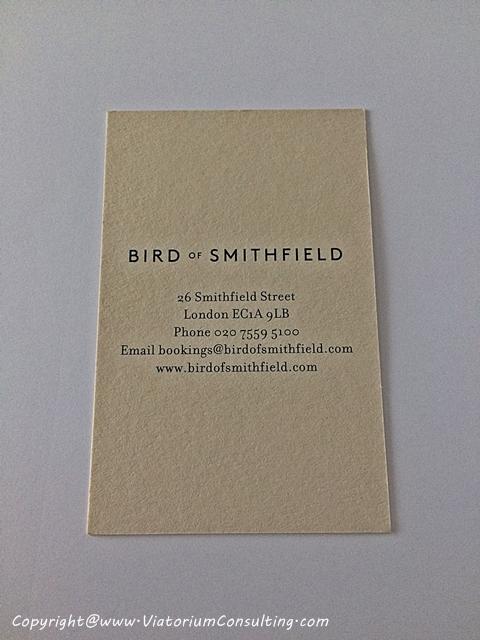 bird of smithfield vcard